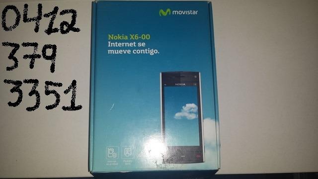 caja y manual de nokia x6 00 usado bs 800 000 00 en mercado libre rh articulo mercadolibre com ve X6 Nokia Phone nokia x6-00 user manual
