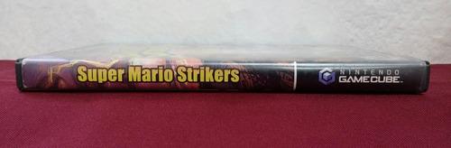 caja y manual de super mario strikers game cube (sin disco)