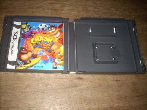 caja y manual sin el juego crash boom bang para nintendo ds