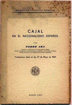 cajal en el nacionalismo español. p. ara (asoc. española)