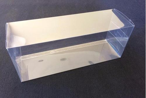 cajas acetato transparente 8,5x7x22(alto) cm  ( 25u )