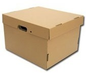 cajas archivo cartón corrugado  pack x 25 unidades