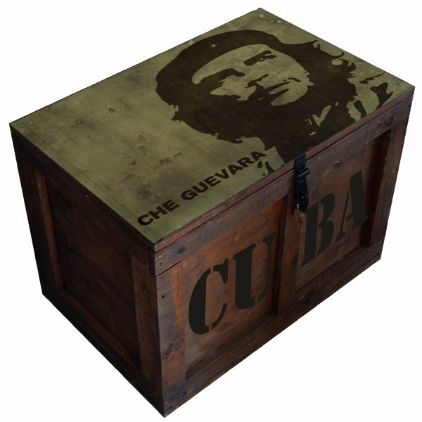 Cajas Baúl Madera Mesa Vintage Mediano Corona Pintados - $ 2.799,00 ...