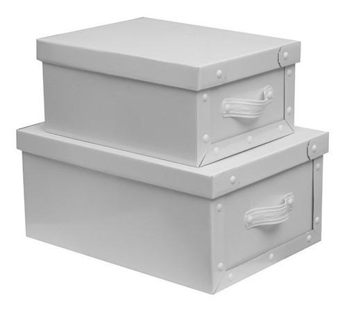 cajas baulera de carton plegables 39x30x18cm con manija