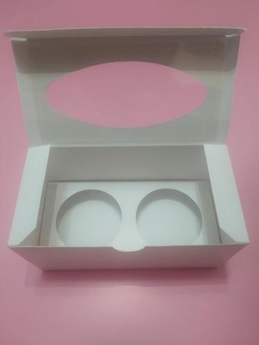 cajas blancas para 2 cupcake