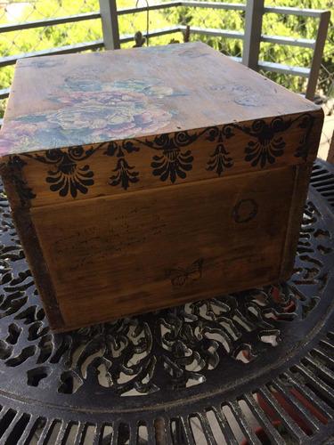 cajas cajones de madera reciclados.