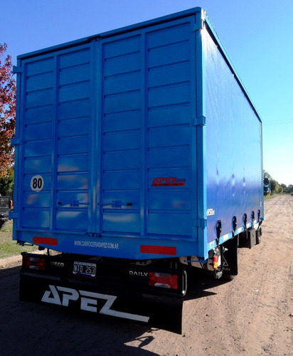 cajas camión nuevas fabrica sider colocación lona