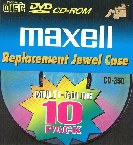 cajas cd pack maxell 10 cajas usa nueva sellada 5 colores