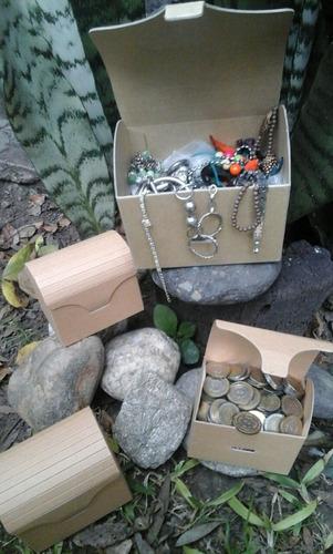 cajas cofres de cartón para souvenirs chicas  x 1