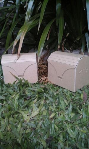 cajas cofres de cartón para souvenirs medianas  x 1