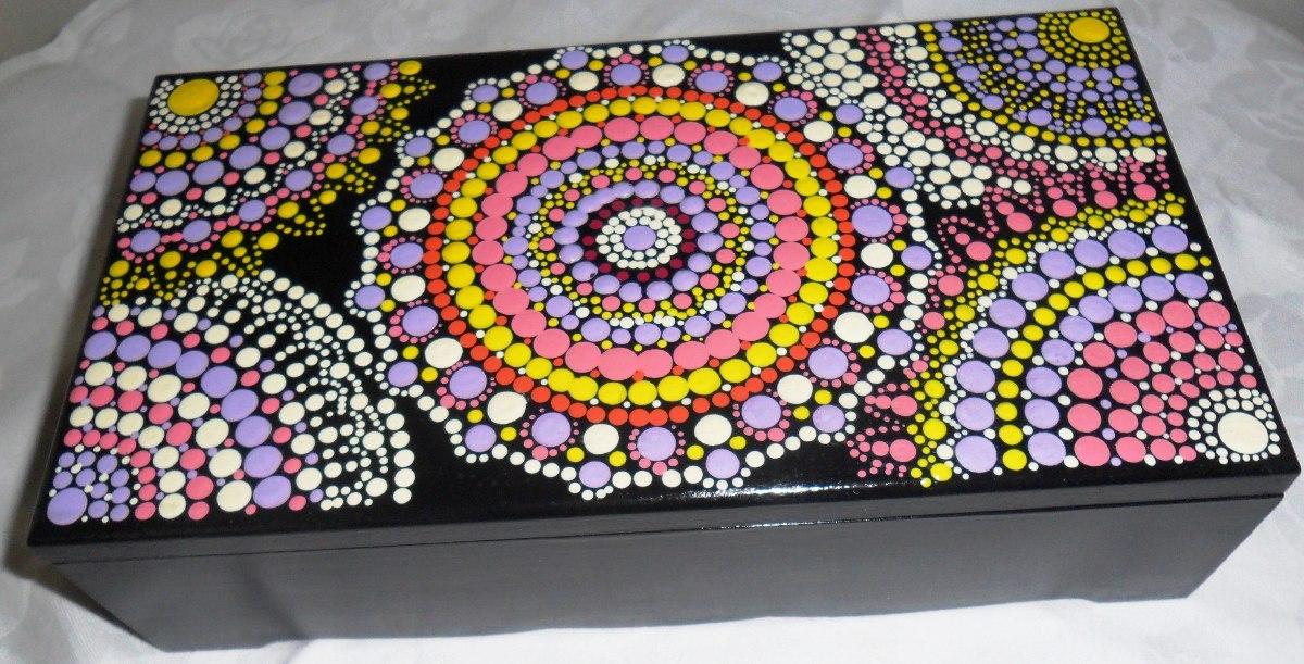 Cajas Con Mandalas Pintados A Mano Para Regalos Y Recuerdos B