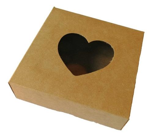 cajas craft con ventana para souvenirs o packaging