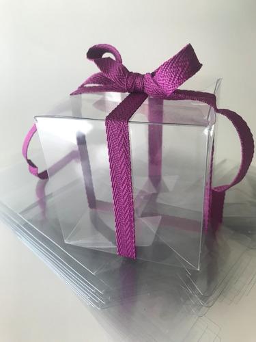 cajas de acetato transparente 7 x 7 x 7