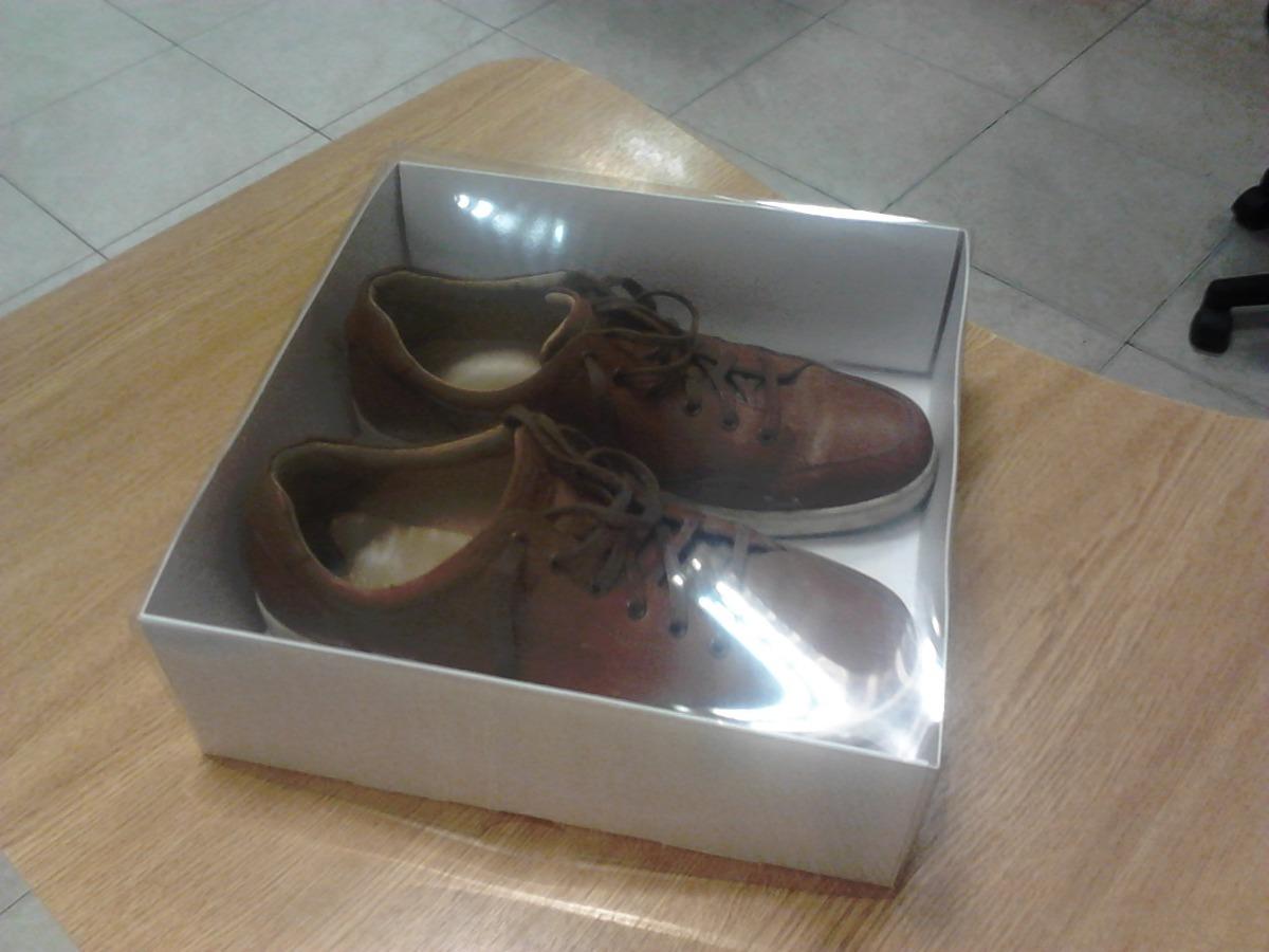 Cajas De Acetato Transparente Base Cartulina Zapatos 10u 880  ~ Cajas Transparentes Para Zapatos