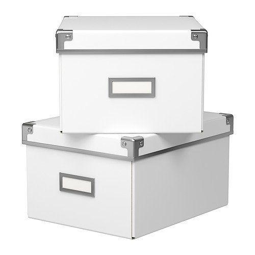 Cajas De Almacenaje Ikea Kassett Color Blanco 390 00 En Mercado