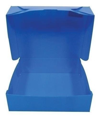cajas de archivo plásticas oficio x 25 unidades azules