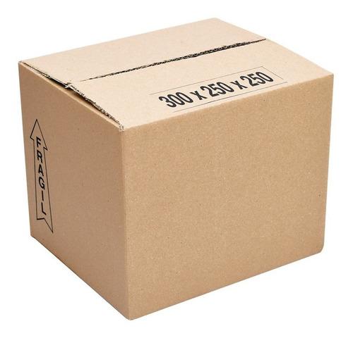 cajas de carton corrugado 20x20x10. pack de 50 unidades.