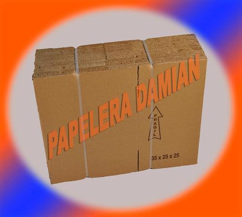 cajas de cartón embalaje reforzada 35x25x25 pack x25u