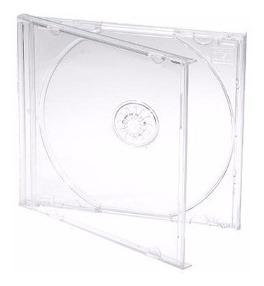 cajas de cd's transparentes x 50-envio gratis x mercadoenvio
