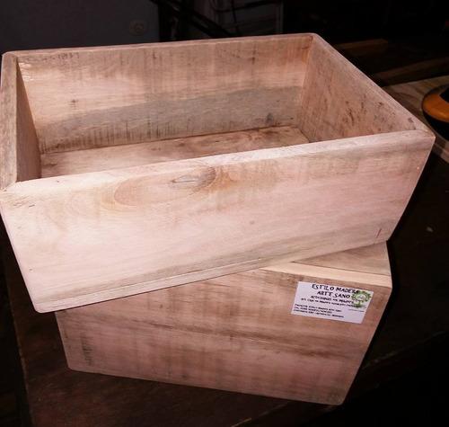 cajas de eucalipto recicladas 20cm.x 15cm. y 20cm. x 30cm.