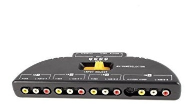 cajas de interruptor selector,4-way audio video av rca i..