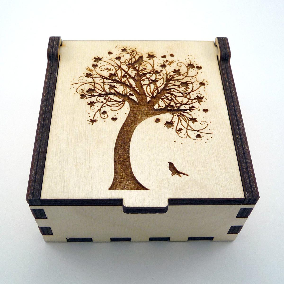 cajas de madera corte l ser en mercado libre