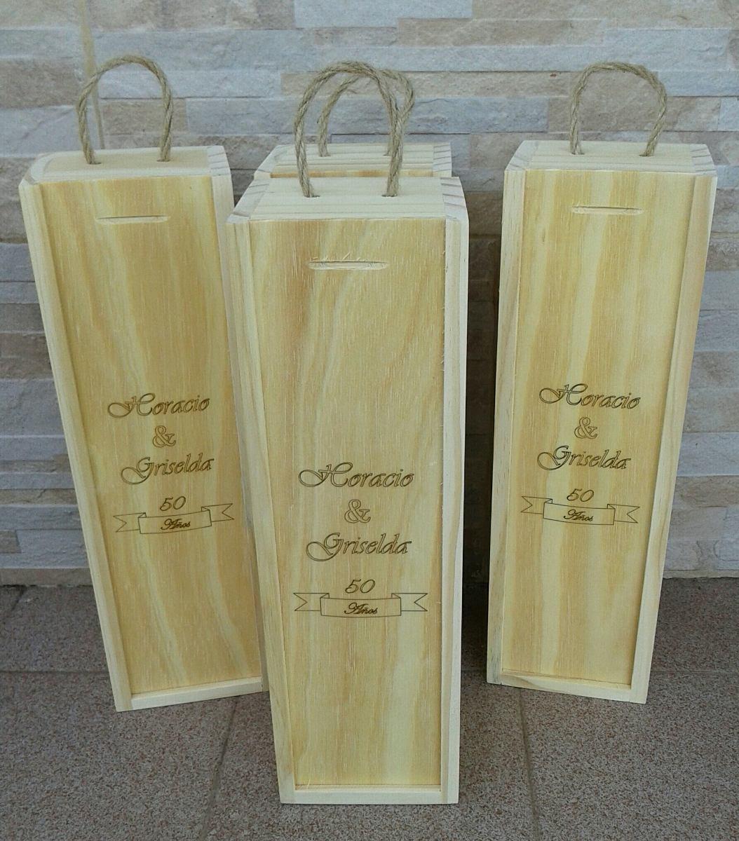 884d09d0b cajas de madera para botellas de vino (opcional grabado). Cargando zoom.