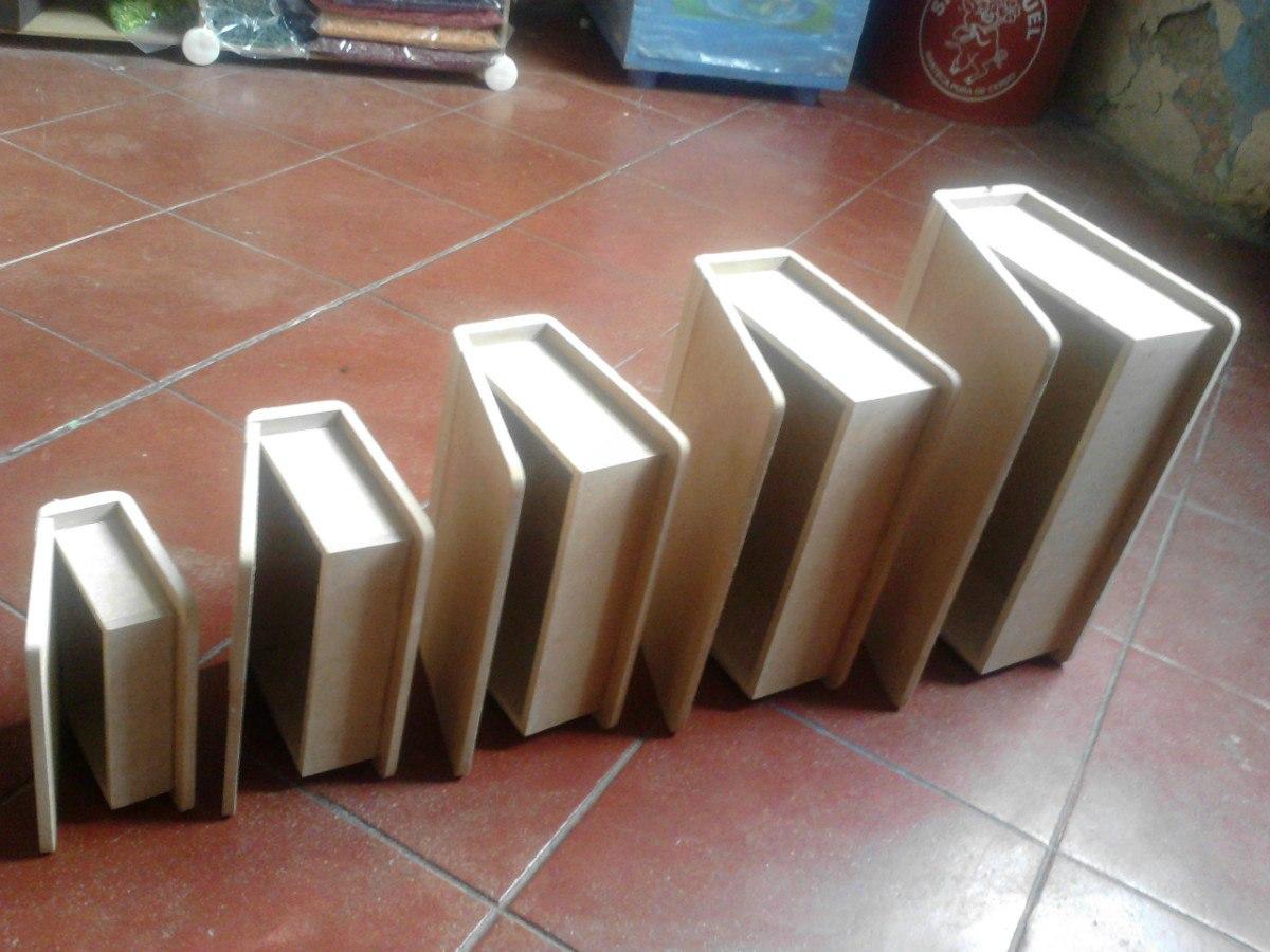 Cajas De Mdf En Forma De Libro - $ 25.00 en Mercado Libre