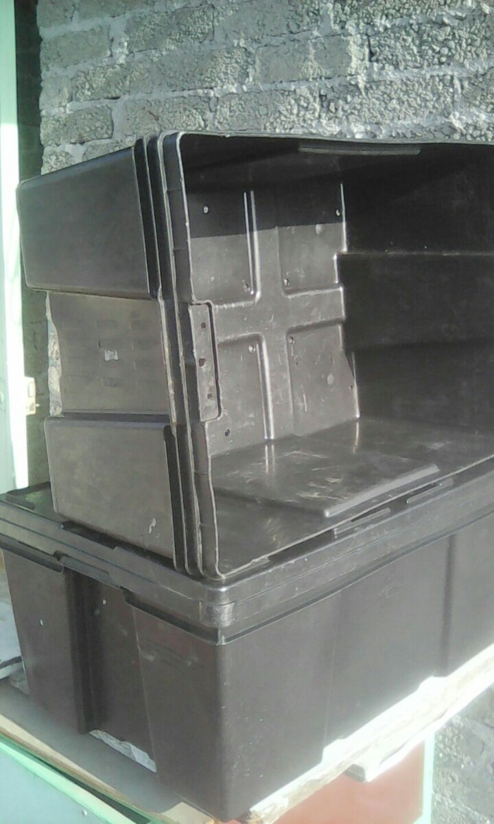 cajas de plastico usadas en mercado libre