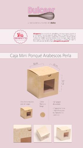 cajas de regalo para mini ponquecito cupcake model arabescos