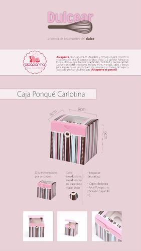 cajas de regalos para 1 ponquecito cupcake model carlotina