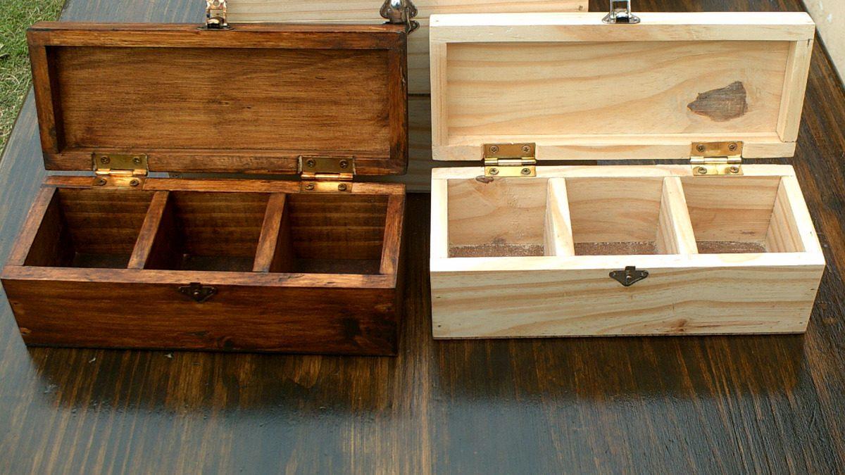 Cajas de te cafe en madera masiza naturales o con - Donde conseguir cajas de madera ...