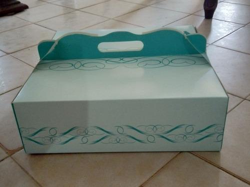 cajas de tortas 30*30*10 con diseño