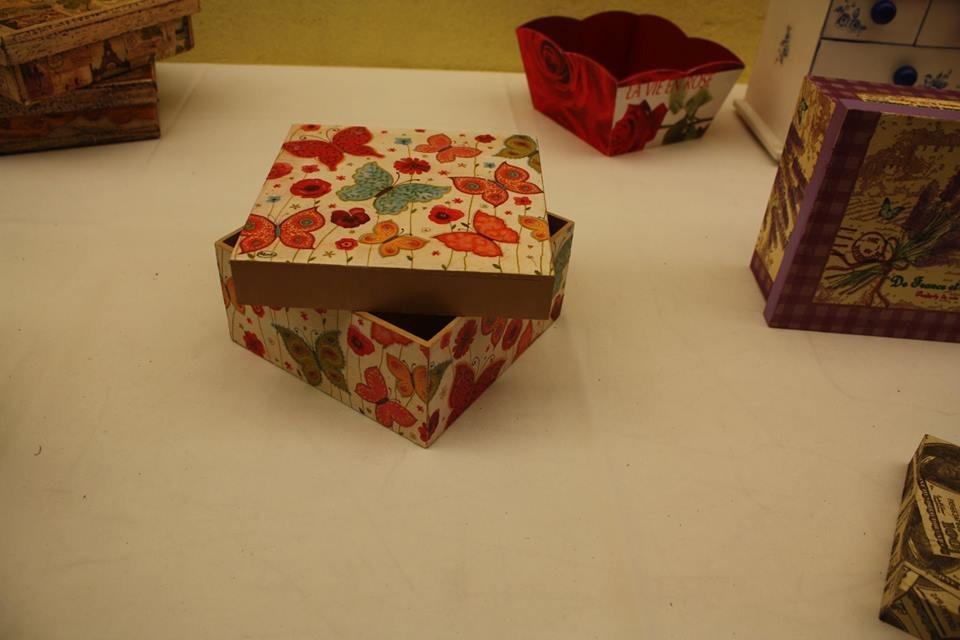 Cajas decoracion con servilleta decoupage en - Decoracion con cajas ...