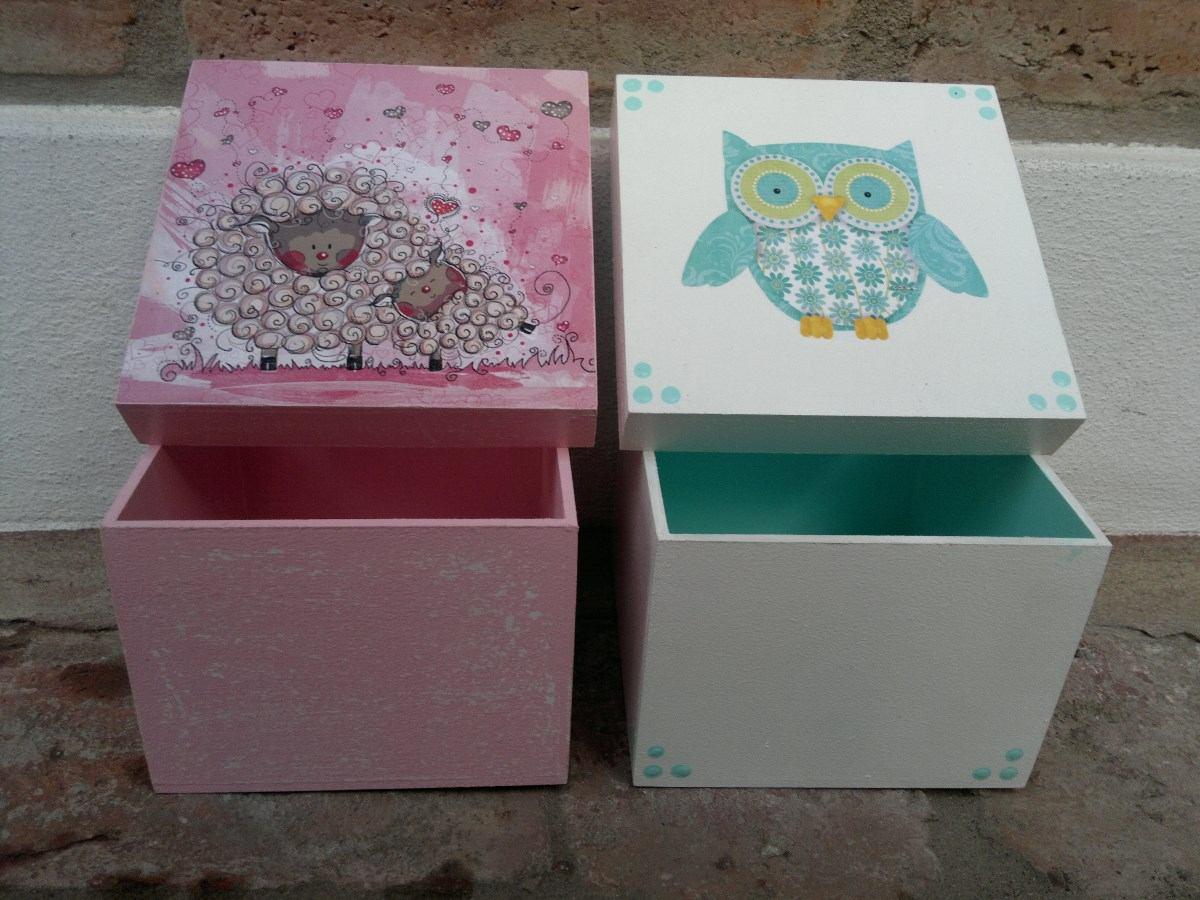 cajas decoradas decoupage craqueladas falso cuero etc
