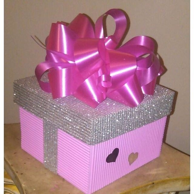 Cajas decoradas para regalos bs 3 00 en mercado libre - Cajas grandes de carton decoradas ...