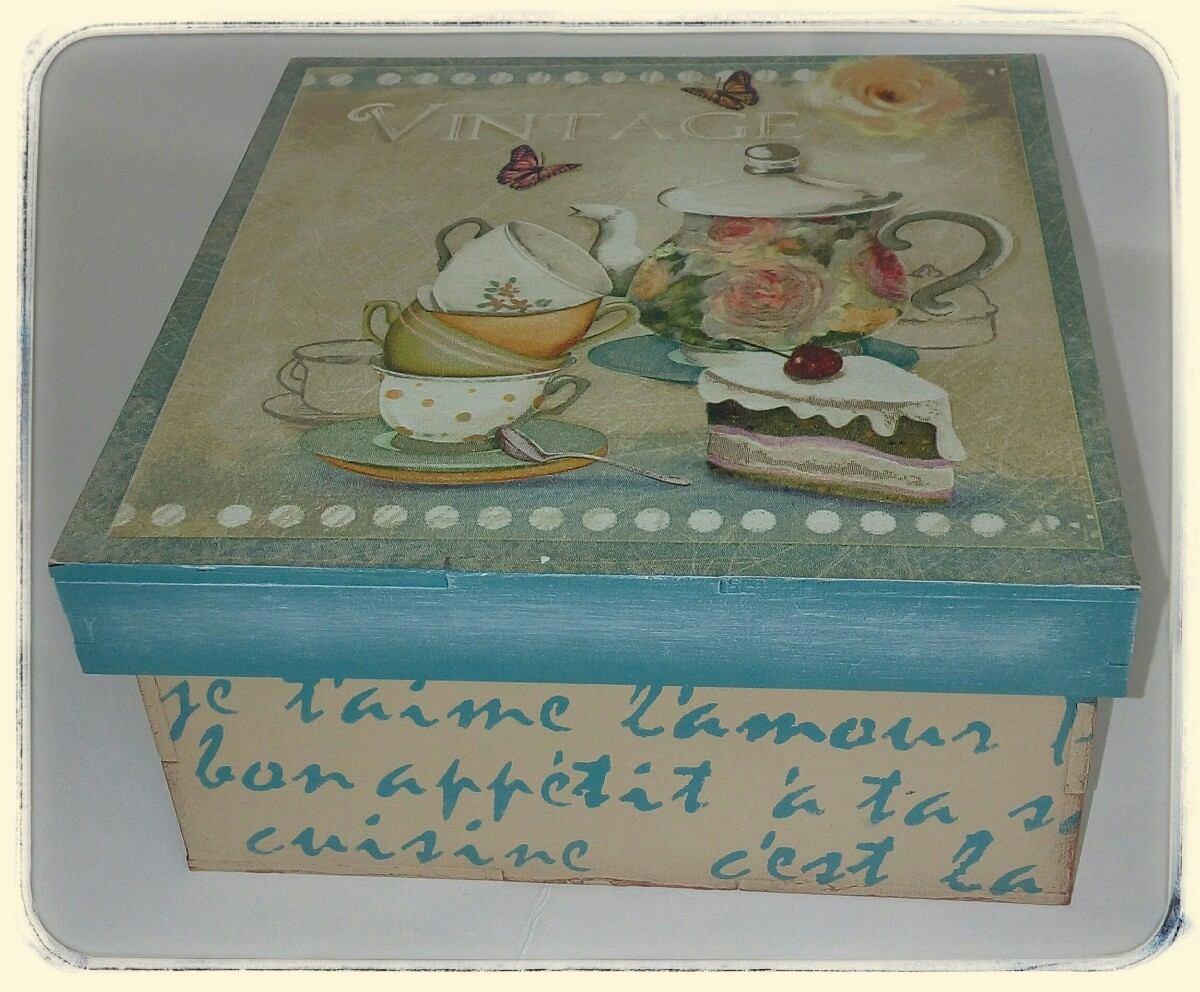 Cajas Decoupage Estilo Vintage 150 00 En Mercado Libre