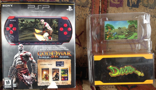 cajas del psp ediciones god of war ghost of sparta y daxter