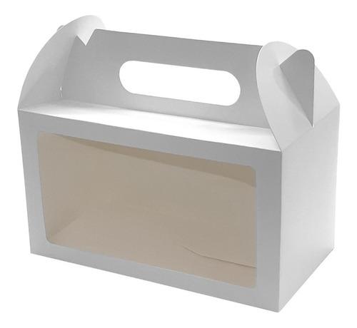 cajas delivery c/ventana y manija (25x14x13) 10 unid.