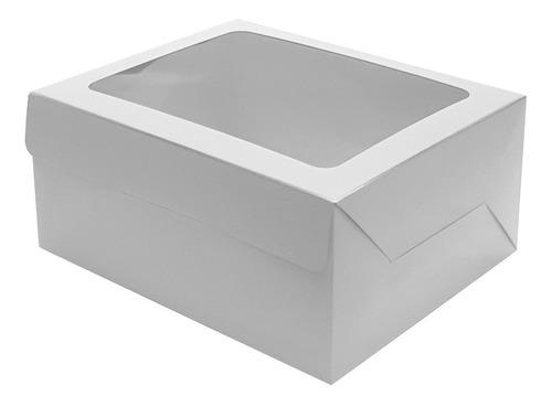 cajas delivery tortas, dulces c/ventana (22x22x10) 25 unid.
