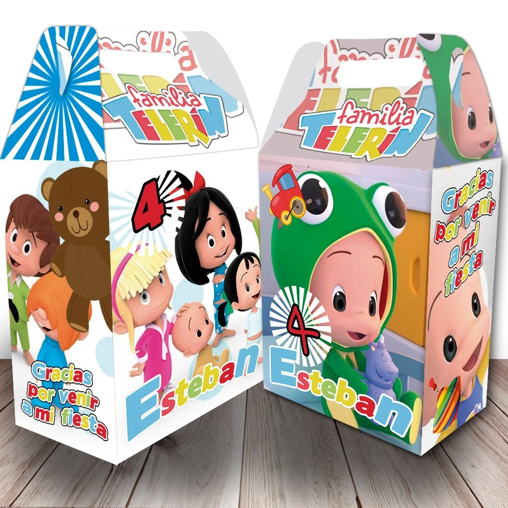 cajas dulceros personalizados familia telerin 6 diseños 12 00