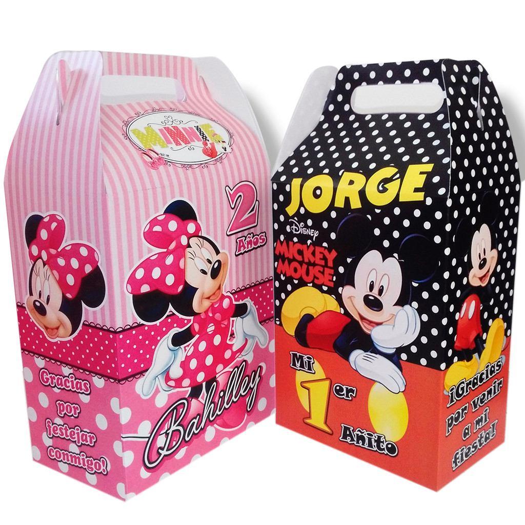 3f186c4f6 Cajas Dulceros Personalizados Mickey Mouse Minnie Mimi - $ 12.00 en ...