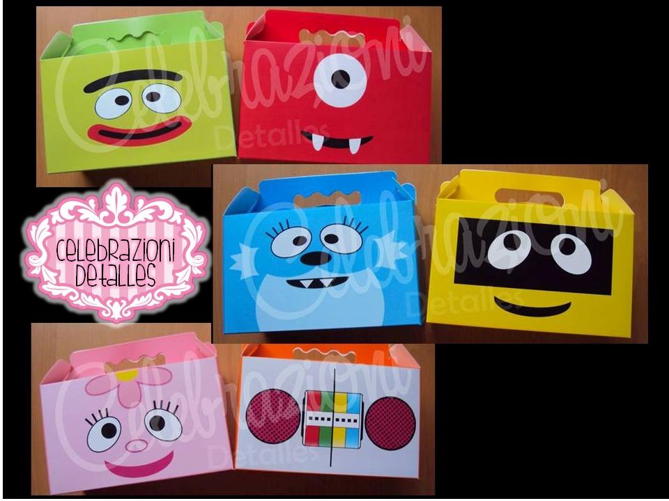 Cajas dulceros tipo lonchera de carton p fiestas for Cajas de carton infantiles