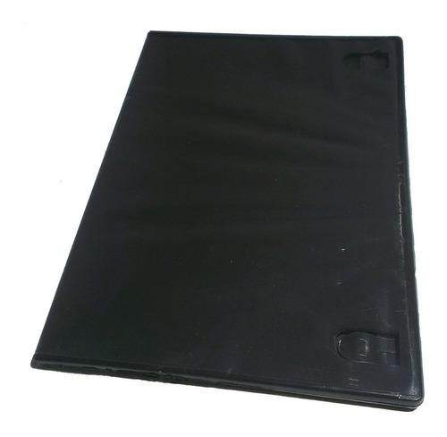 cajas dvd 7mm negras con film para caratulas pack x200 unid.