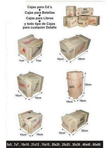 cajas en madera  de pino tipo guacal  estuches de lujo