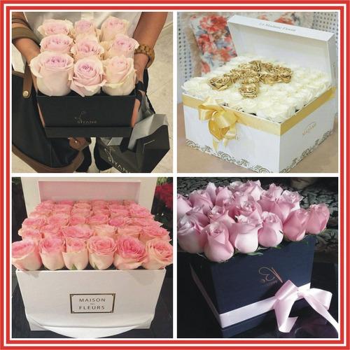 cajas en madera mdf  para flores rosas forma de letras