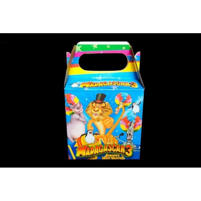 Cajas Madagascar X 12 Feliz Cumpleaños Fiestas Piñatas 6200 En