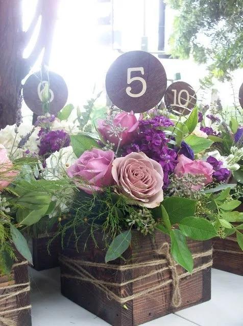 Cajas Madera Vintage Arreglo Floral Centro De Mesa Bodas Ch
