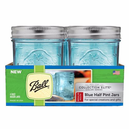 cajas mason jars 8 oz azul