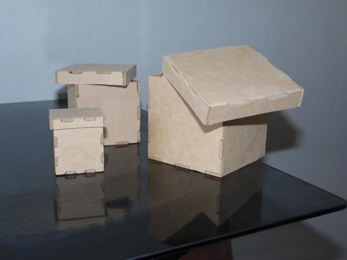 cajas mdf 10x10x10 cm con tapa